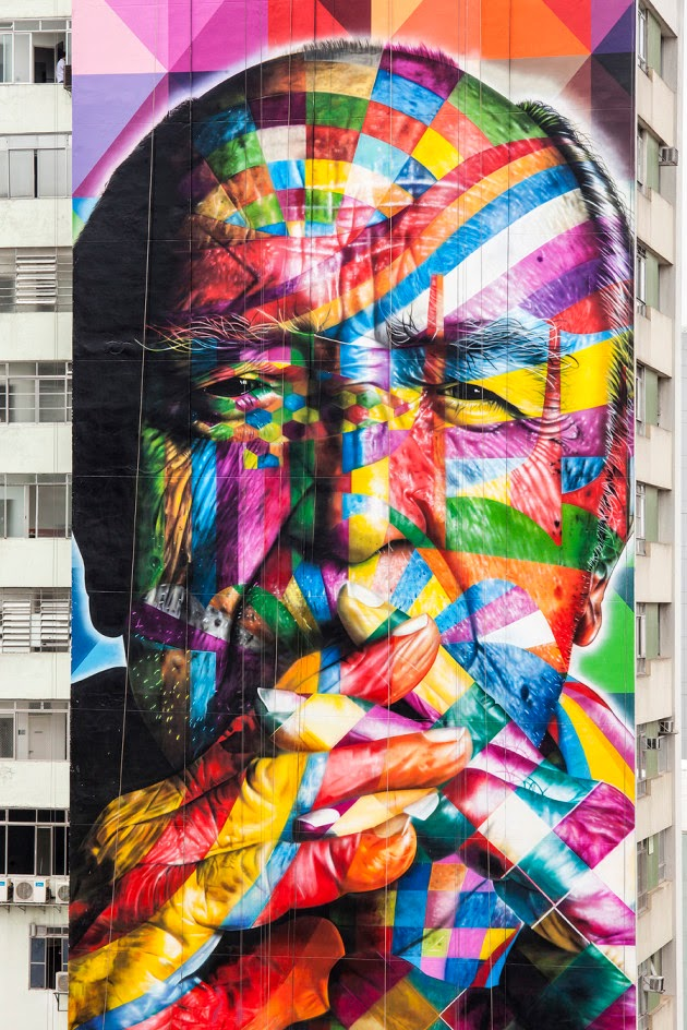 The Best Examples Of Street Art In 2012 And 2013 - Kobra, São-Paulo, Brazil