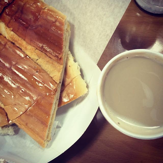 Karla Bakery Cuban tostada cafe con leche