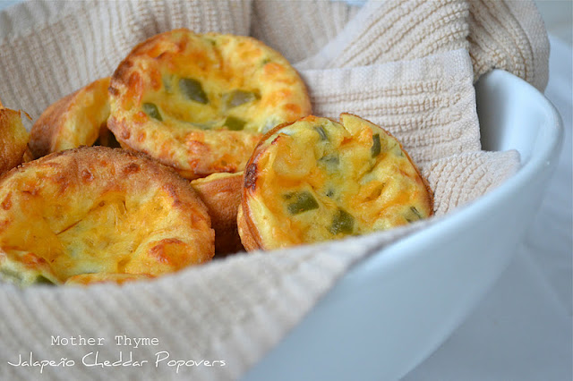 Jalapeno Cheddar Popovers - Mother Thyme