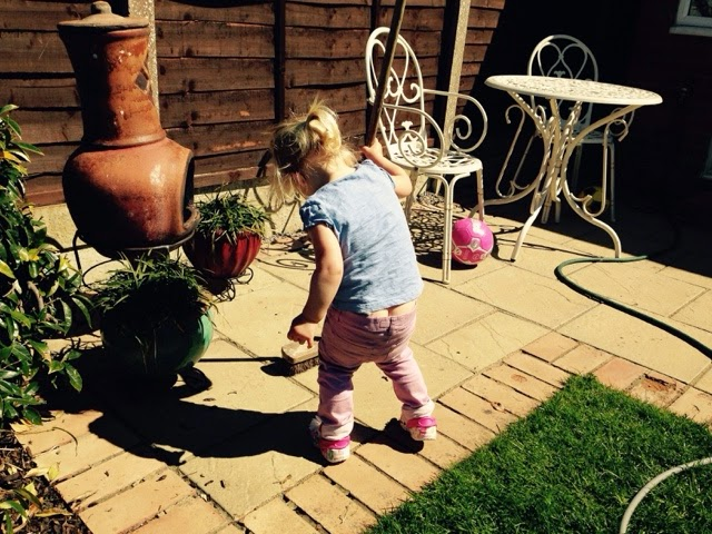 Tin Box Tot wearing her trousers low