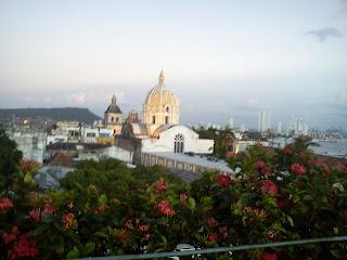 Cartagena desde mi hotel. Al fondo: Bocagrande. Foto: Jorge Bela