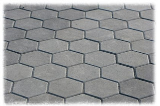 SUSUNAN PAVING SEGI ENAM / HEXAGON