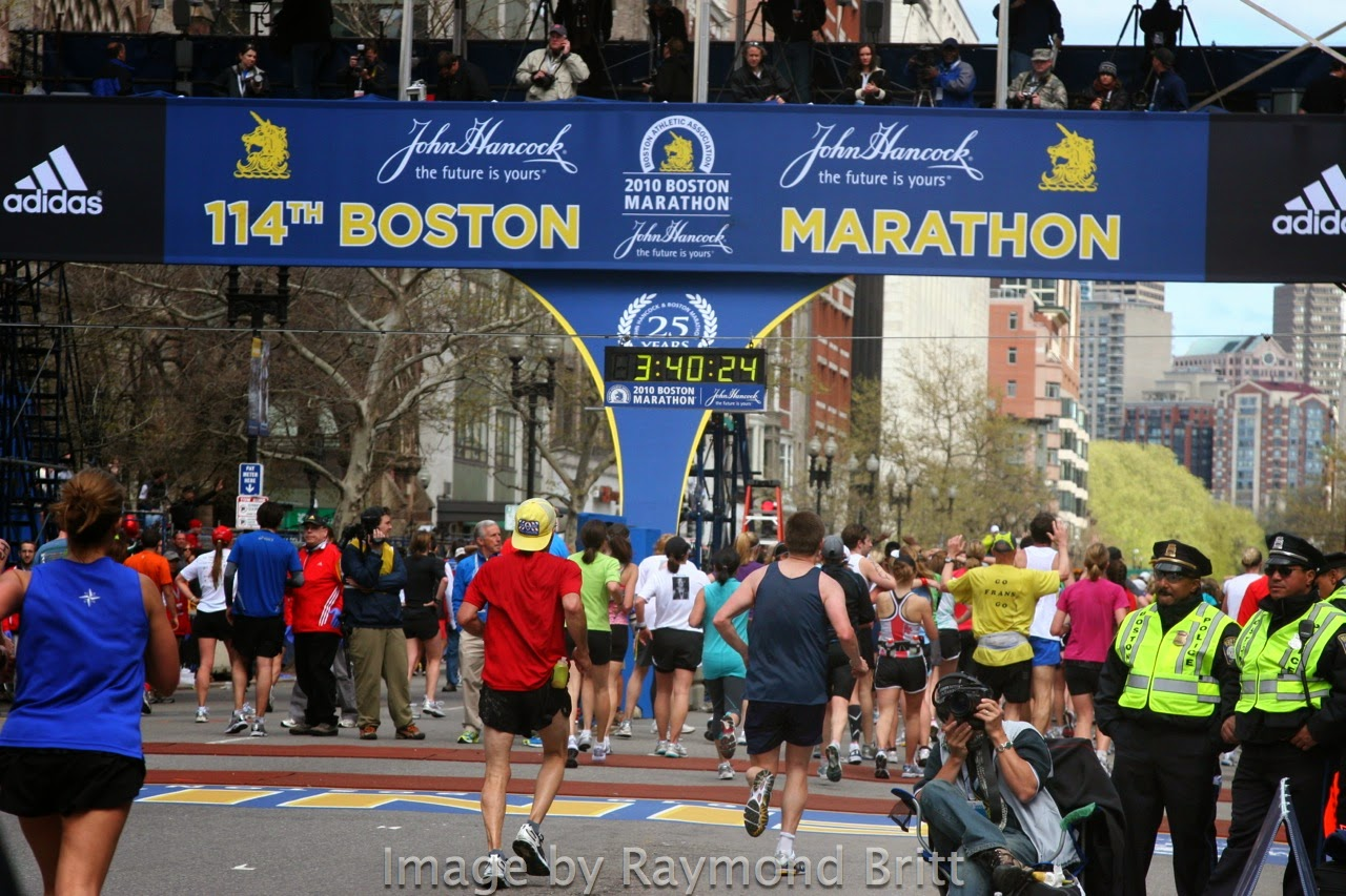 RunTri Boston Marathon Photos Racing To The Runners Ultimate Finish Line