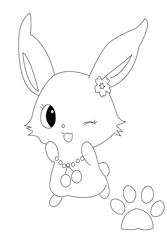 Jewel Pet Coloring Pages : Sparkling Ribbon title=