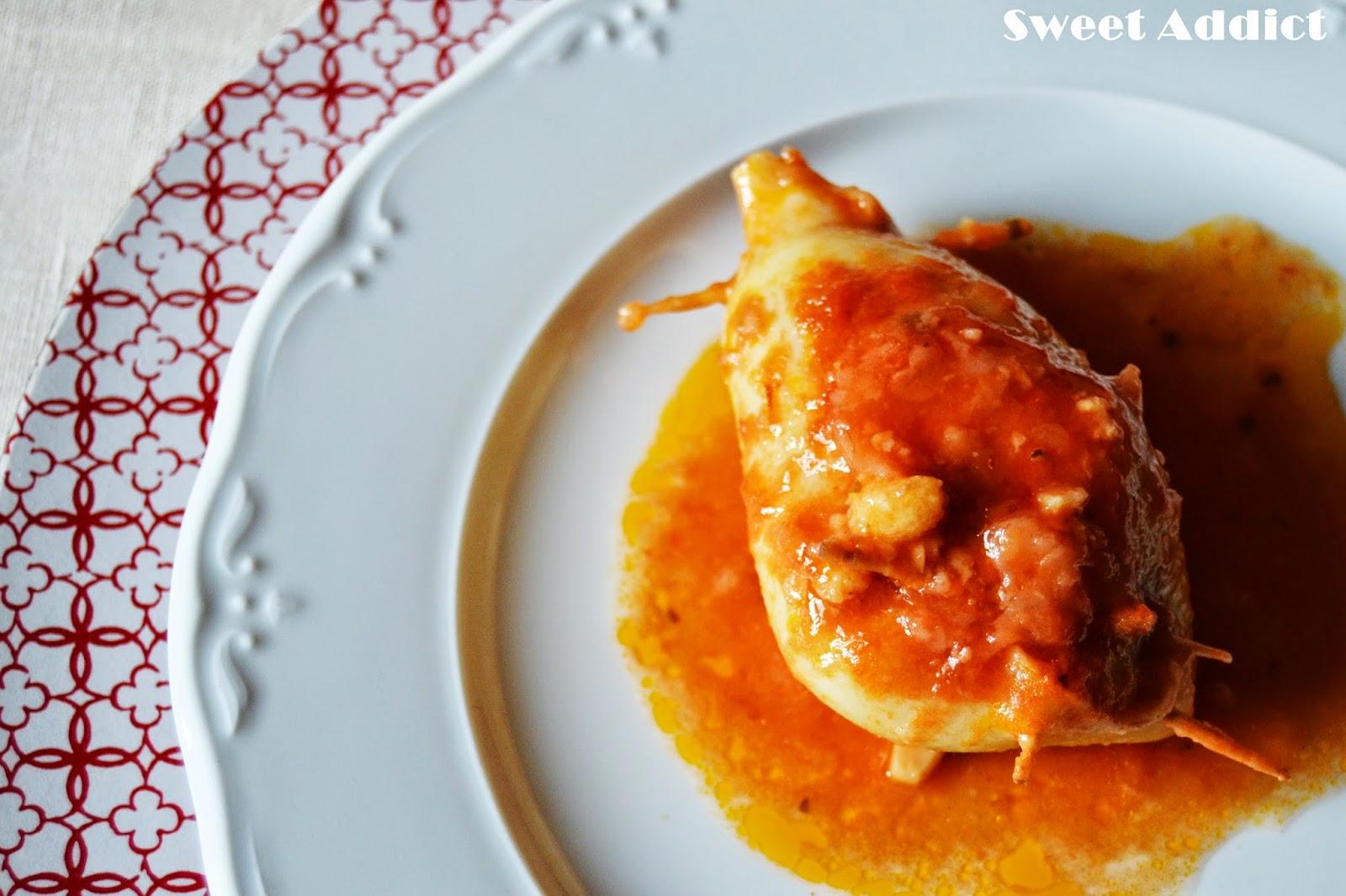 Calamares rellenos sweet addict - Salsa para calamares rellenos ...