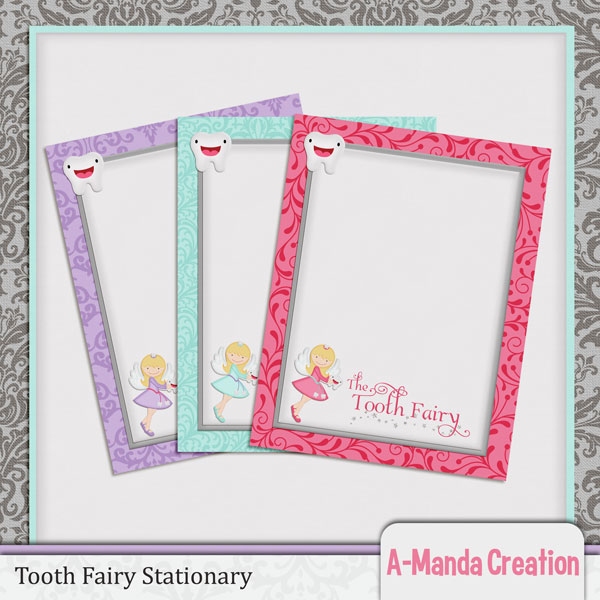 It's just a graphic of Impeccable Tooth Fairy Stationary