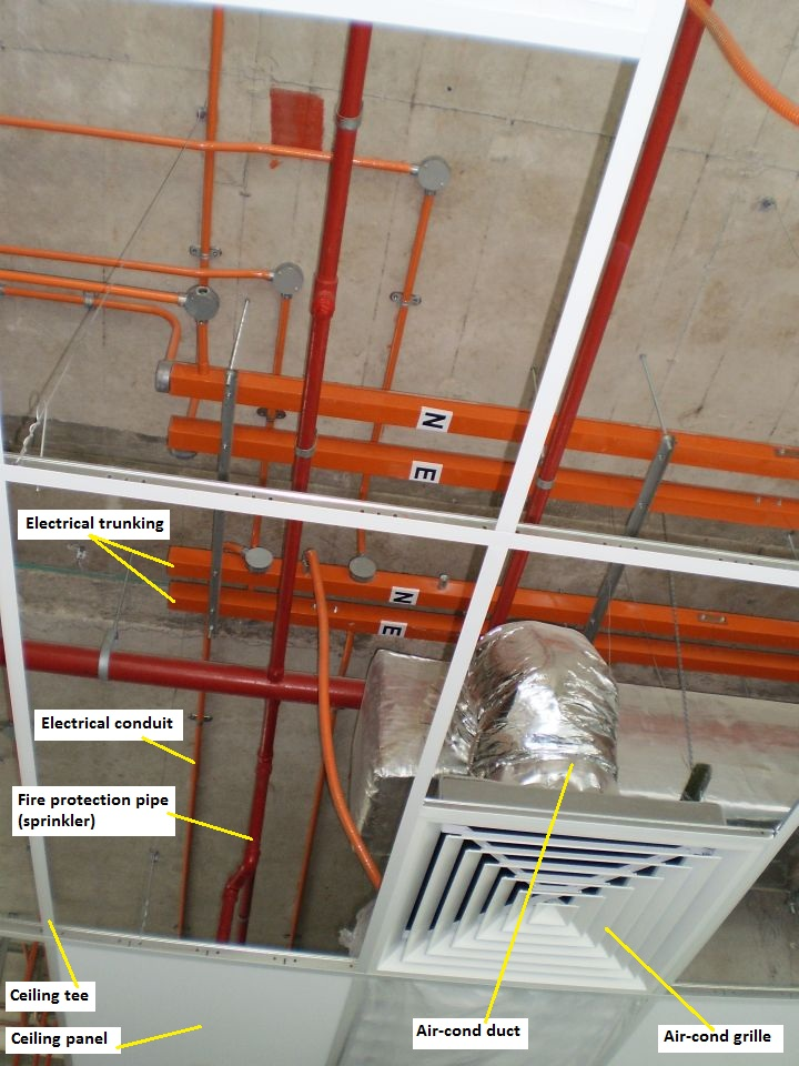 Electrical Installation Wiring Pictures: Conduit to trunking connections