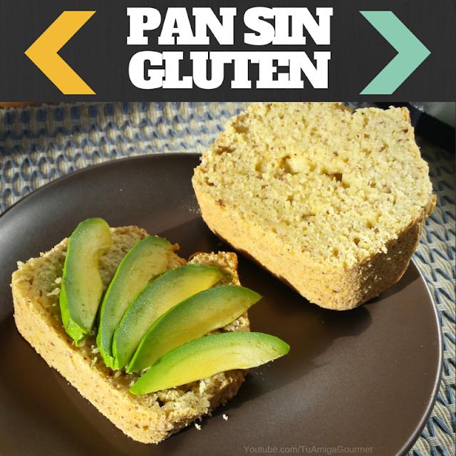 Pan libre de gluten y de lácteos con harinas panificables