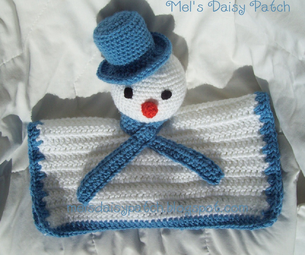 Mels Daisy Patch Crochet and Crafts: Snowman Snuggle Blanket