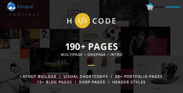 H-code Multipurpose Commerce Drupal theme