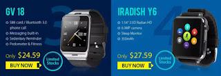 GV 18 and IRADISH Y6 smart watch (2)