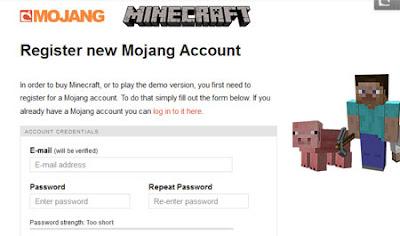 crear cuenta en minecraft paso 1