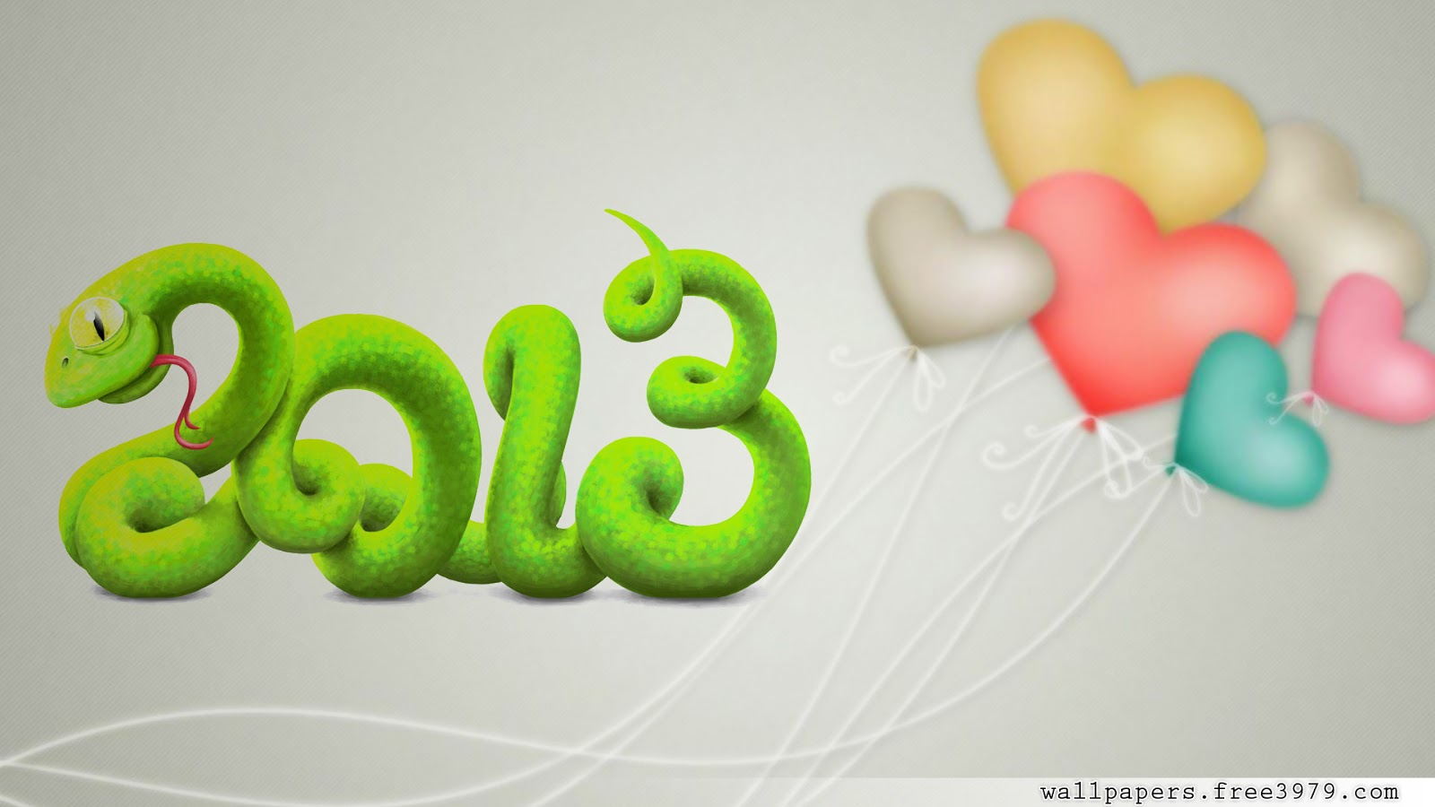 2013 Snake 3D Happy New Year