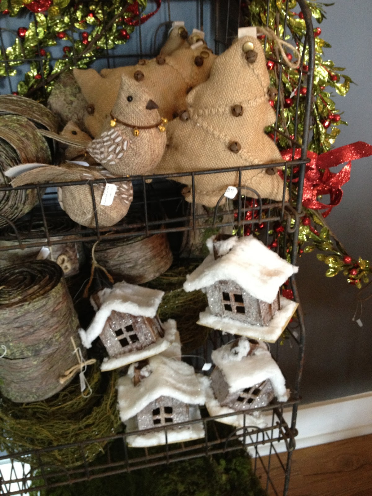 Burlap bird ornaments - Let Seven Gray Help You Kick Off The Holiday Season This Year