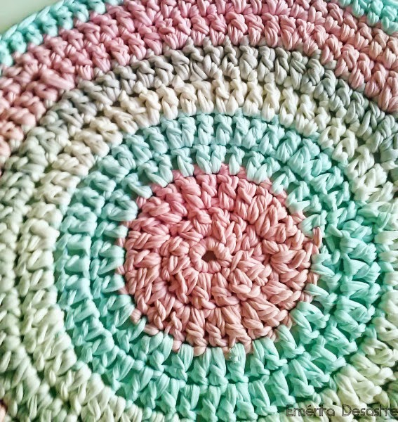 Em rita desastre diy alfombra de trapillo para beb - Alfombras redondas infantiles ...