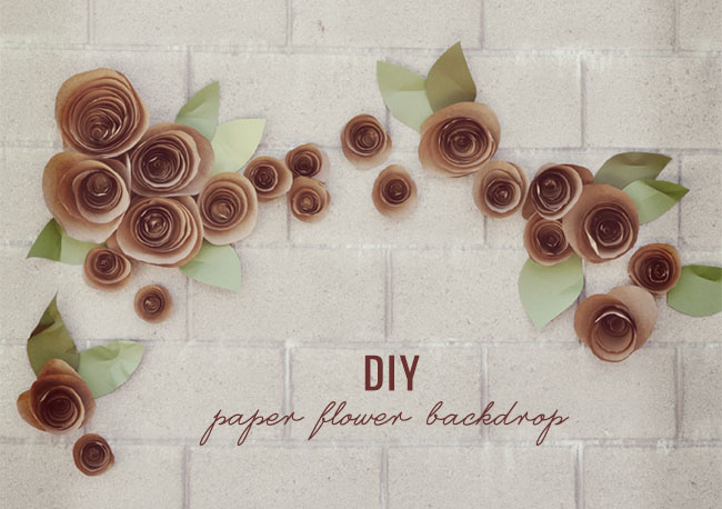 Ask Cynthia DIY Projects Paper Flower Backdrop