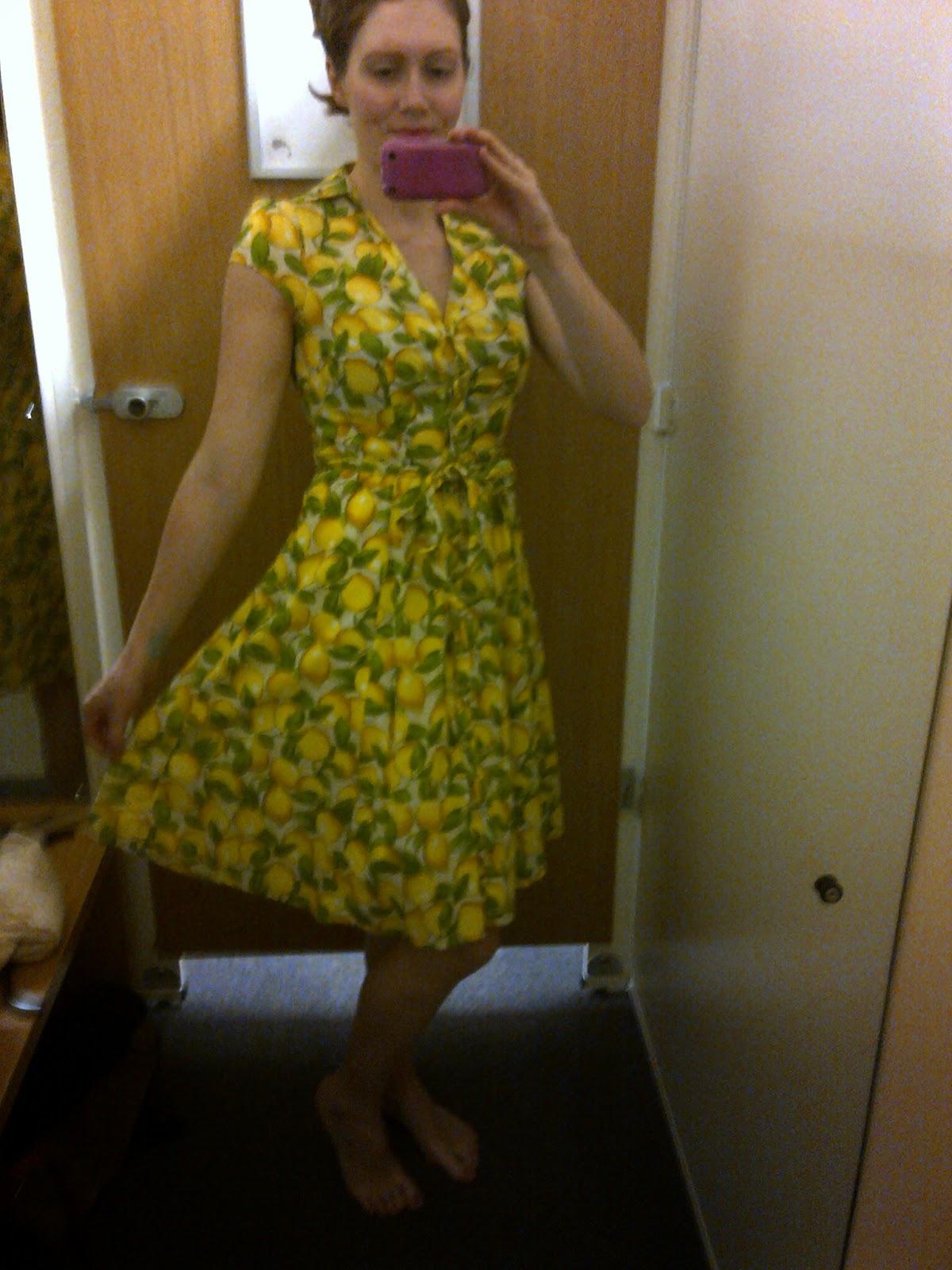 Sainsbury's D&G style dress lemons