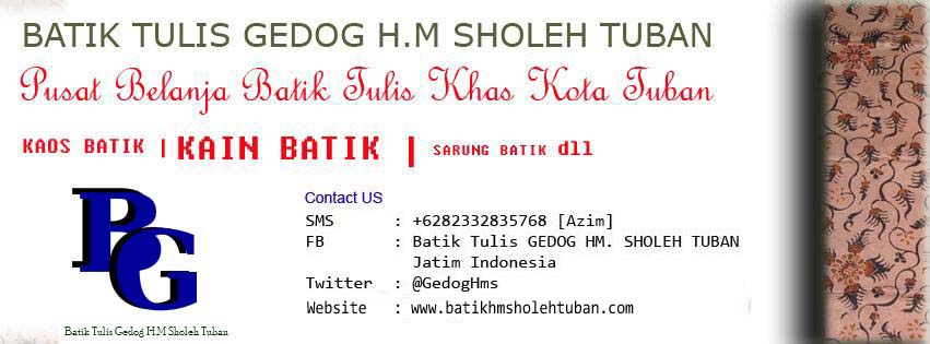 Terhubung Dengan Batik Tulis Gedog HM Sholeh Tuban