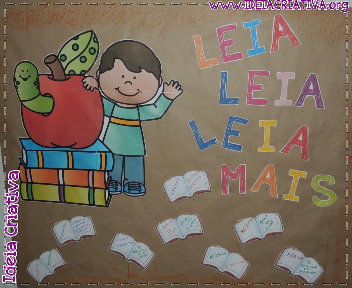 Painel Decorado Dia do Livro Infantil