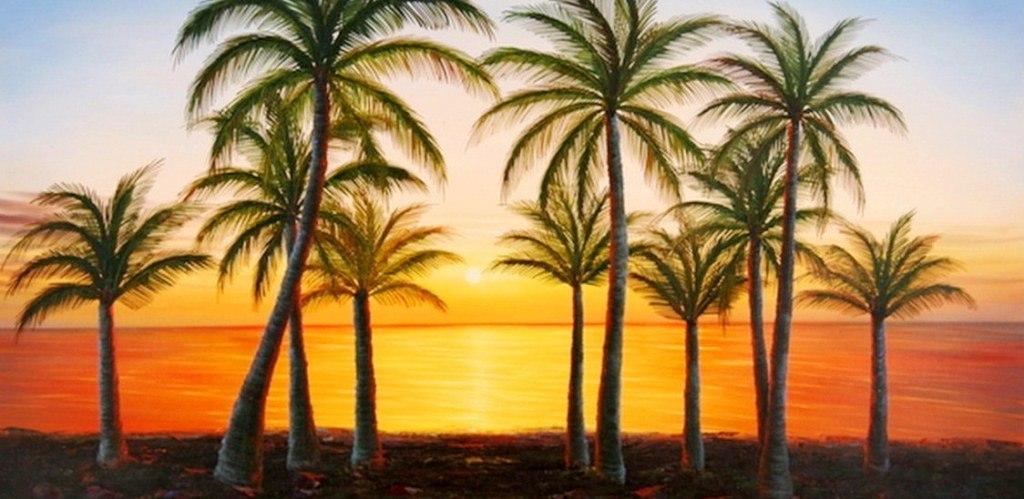 Pintura moderna y fotograf a art stica paisajes las - Cuadros de atardeceres ...