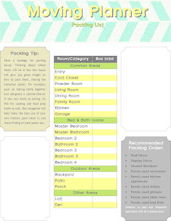 Invaluable image with printable moving checklist and planner
