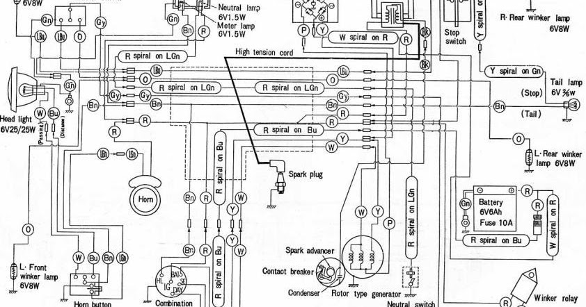 HONDA    C200     Honda   C200Electrical   Wiring      Diagram