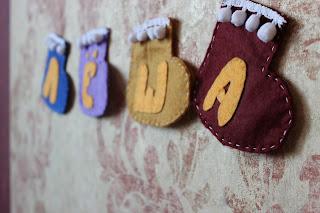 Новогодние носки из фетра
