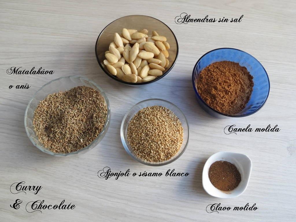Pestiños de almendra andaluces - Ingredientes