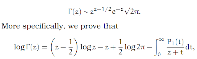 Complex Analysis: #28 Stirling`s Formula equation pic 1