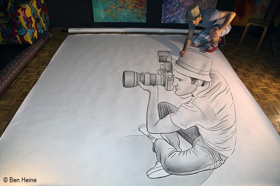 Ben heine art and music blog pencil vs camera 73 for Dessin en 3d