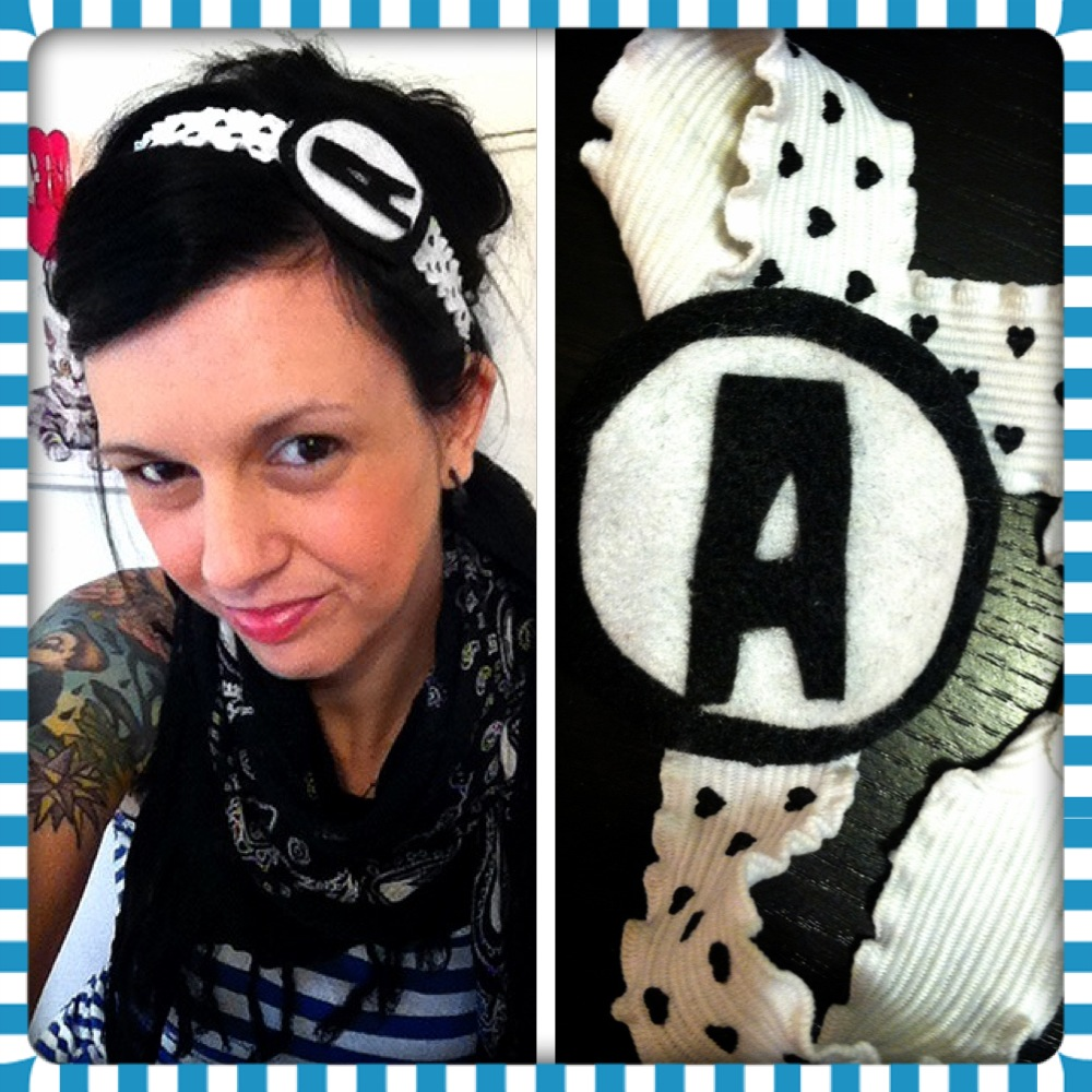 aquabats headband, diy aquabats accessories, diy aquabat, aquabats for girls, scene headbands