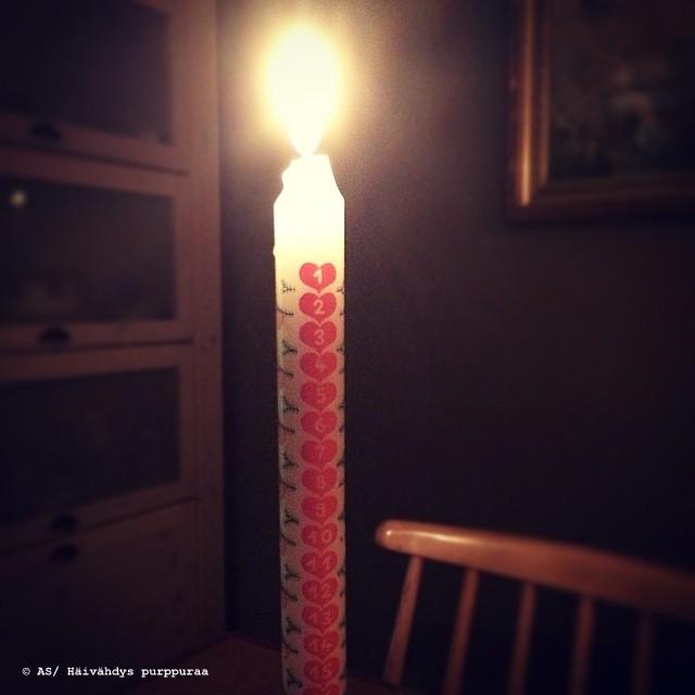 kynttilä joulukalenteri 2018 Häivähdys purppuraa: joulukuuta 2014 kynttilä joulukalenteri 2018