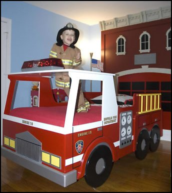 8 Unique Furniture Designs Firetruck Toddler bed and Truck bed