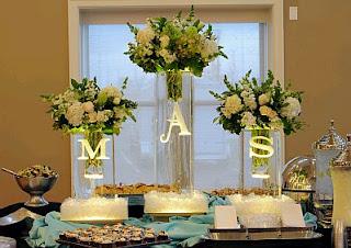 Decoracion de Mesas para Buffet, Centros y Arreglos Florales, parte 1