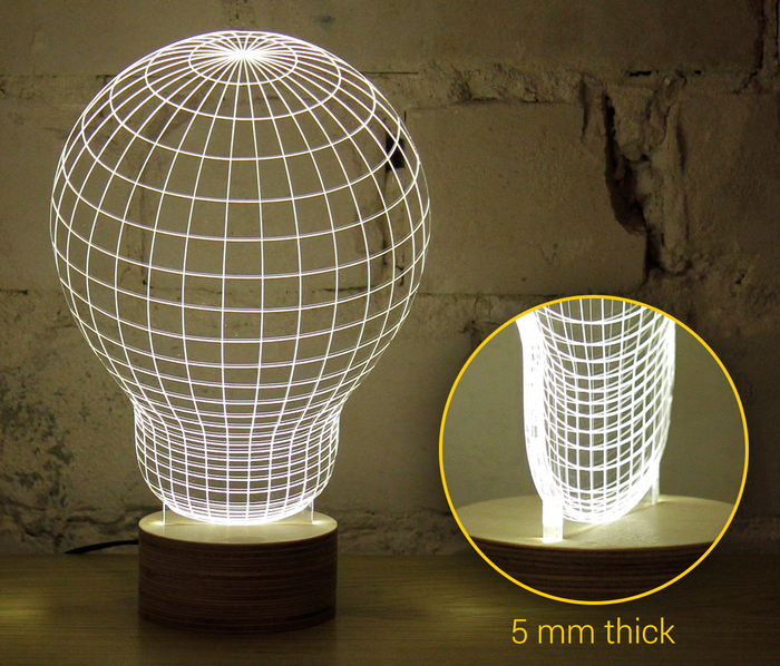optical illusion LED lamp
