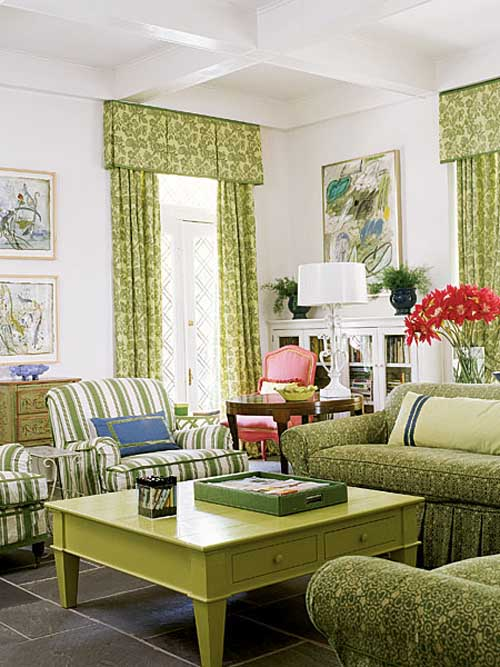 Green living designing fresh paint pictures and wallpaper for Green living room ideas