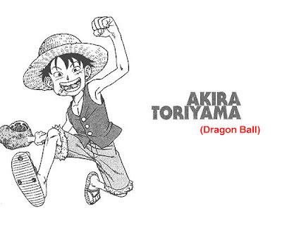 Gambar Luffy yang digambar oleh akira toriyama