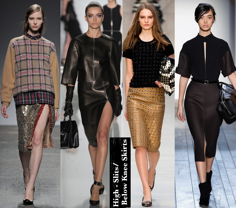 Women's Fall 2013/2014 Trends- High slit skirts and below the knee