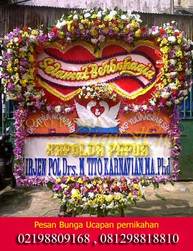 ucapan bunga papan untuk orang menikah