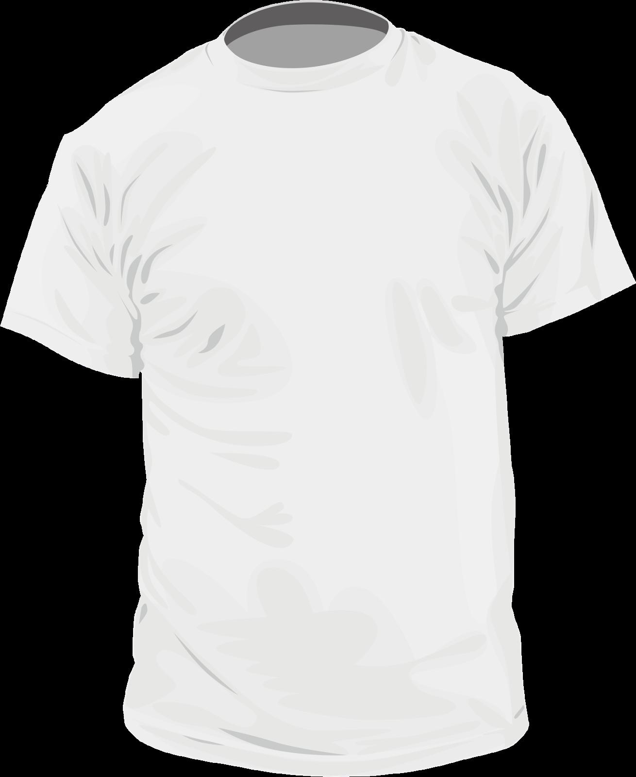 Shirt Vector Template Template T-shirt Kaos Putih