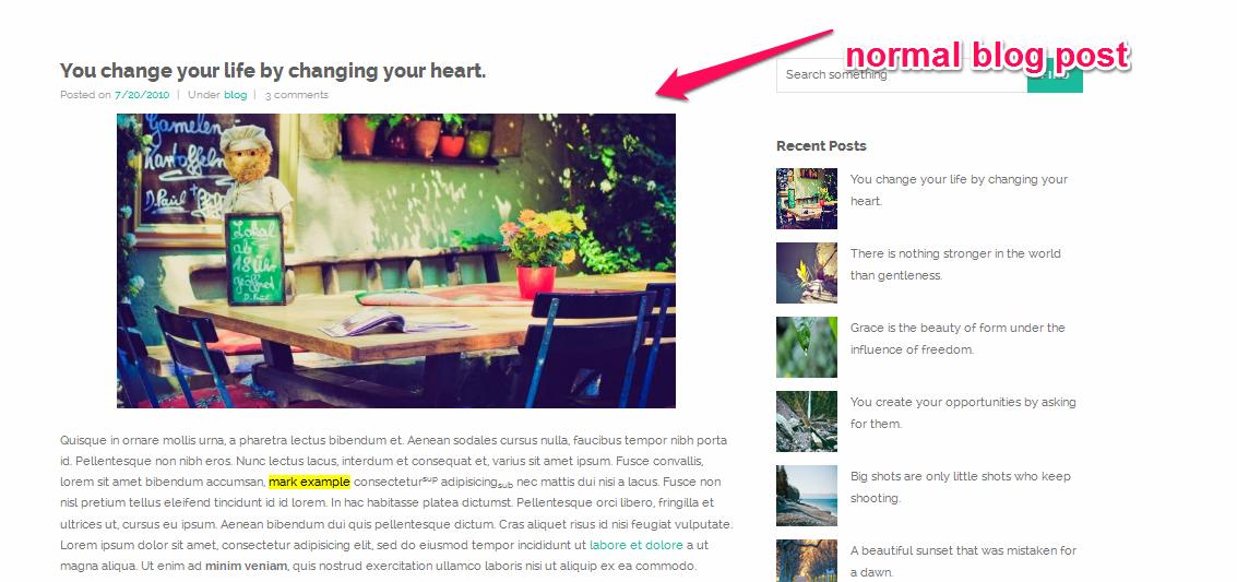 nomal post
