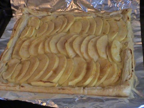 Tarta de Manzana con Hojaldre y Crema
