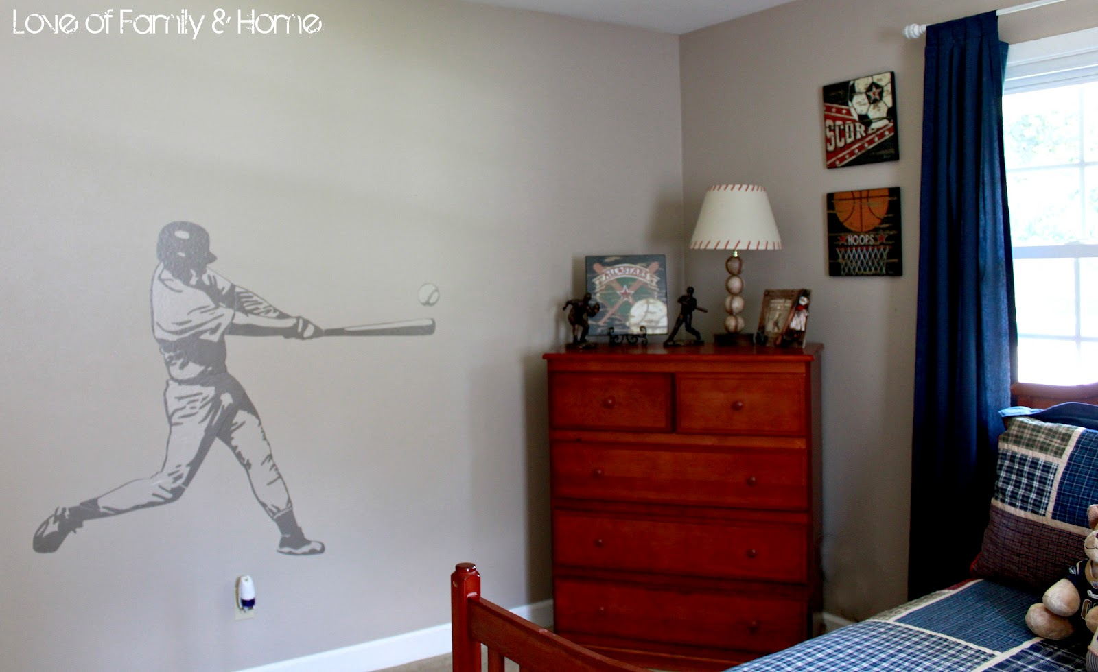 Vintage Baseball Boys Bedroom