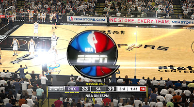 NBA 2K13 ESPN Logo and Scoreboard Mod