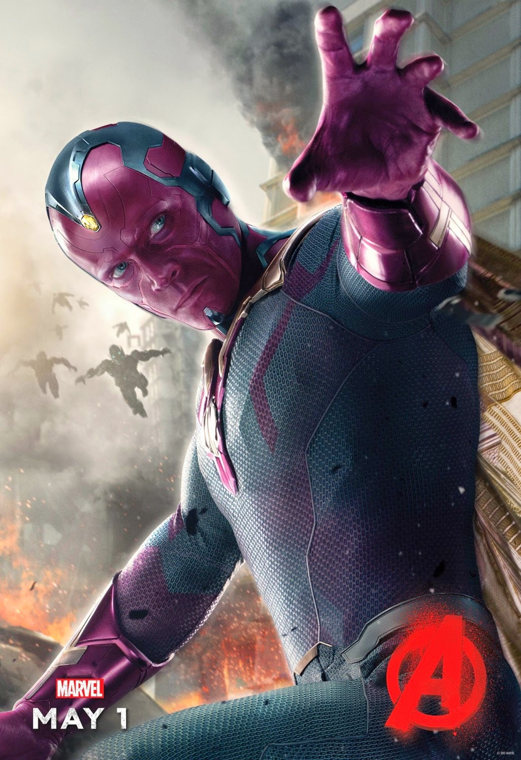 Marvel's Avengers: Age of Ultron Character Movie Poster Set - Paul Bettany as The Vision