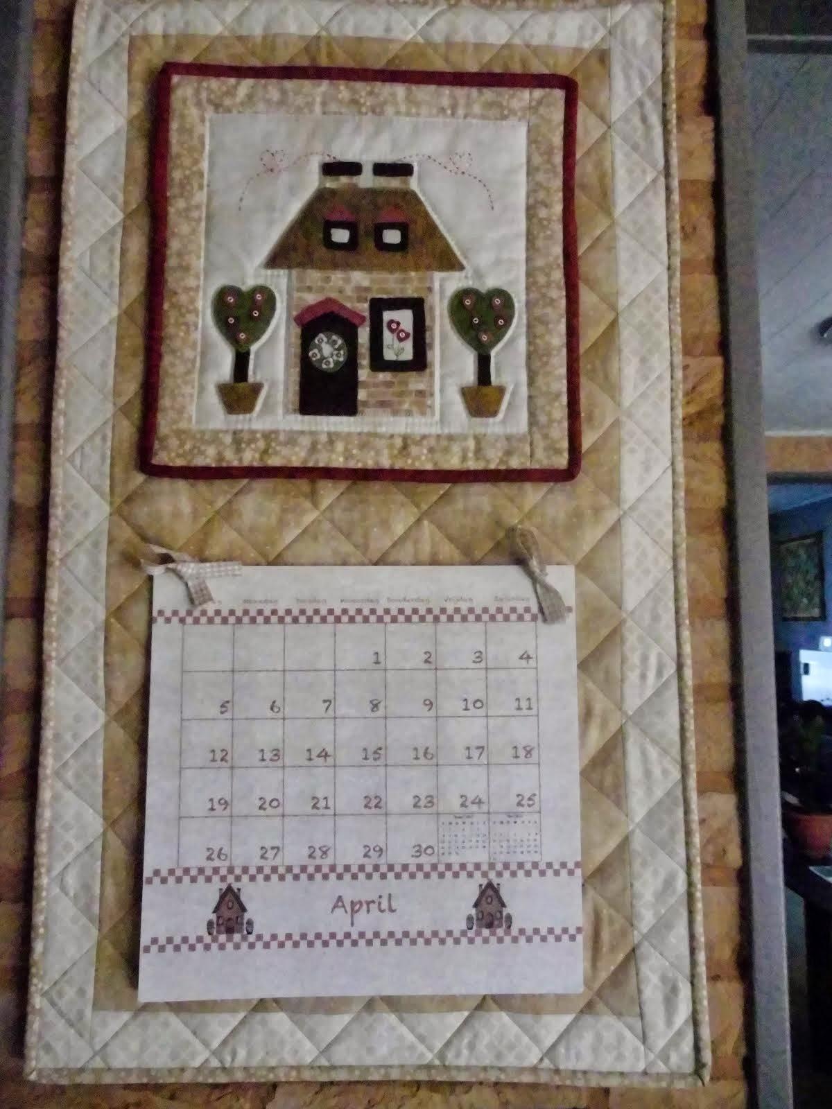 Kalenderhouder +huisje.