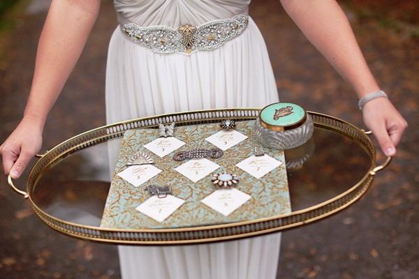 cinturon vintage para novia