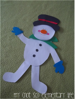 http://www.teacherspayteachers.com/Product/Snowman-Buddy-Activity-and-Craft-Pack-995488