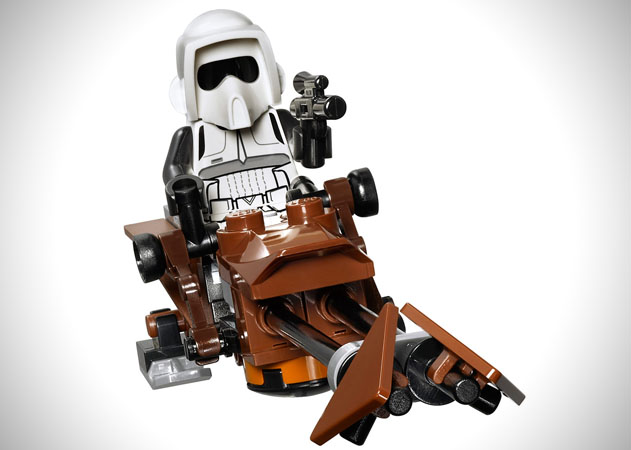 Star wars to the moon of endor for this lego star wars ewok village