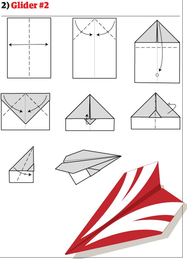 бумажный самолетик 9